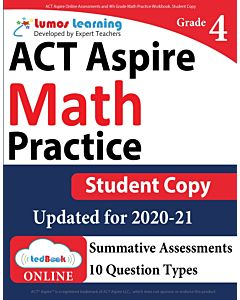 ACT Aspire Practice tedBook® - Grade 4 Math, Student Copy