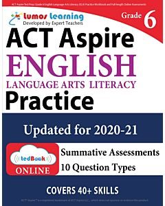 ACT Aspire Practice tedBook® - Grade 6 ELA, Teacher Copy