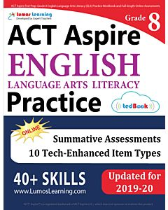 ACT Aspire Practice tedBook® - Grade 8 ELA, Teacher Copy