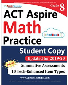 ACT Aspire Practice tedBook® - Grade 8 Math, Student Copy