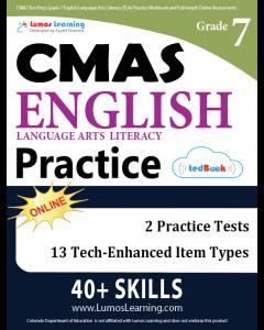 CMAS Practice tedBook® - Grade 7 ELA, Teacher Copy