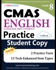 CMAS Practice tedBook® - Grade 8 ELA, Student Copy