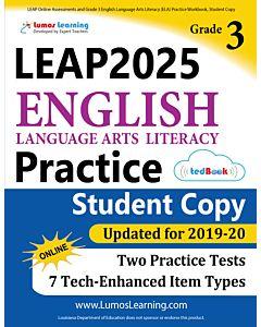 LEAP Practice tedBook® - Grade 3 ELA, Student Copy