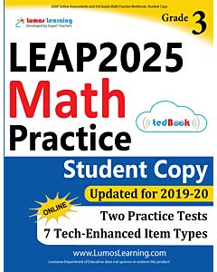 LEAP Practice tedBook® - Grade 3 Math, Student Copy