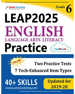 LEAP Practice tedBook® - Grade 6 ELA, Teacher Copy