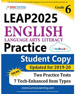 LEAP Practice tedBook® - Grade 6 ELA, Student Copy