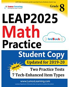 LEAP Practice tedBook® - Grade 8 Math, Student Copy