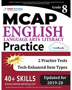 MCAP Practice tedBook® - Grade 8 ELA, Teacher Copy