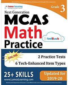 MCAS Practice tedBook® - Grade 3 Math, Teacher Copy