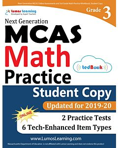 MCAS Practice tedBook® - Grade 3 Math, Student Copy