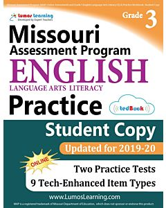 MAP Practice tedBook® - Grade 3 ELA, Student Copy
