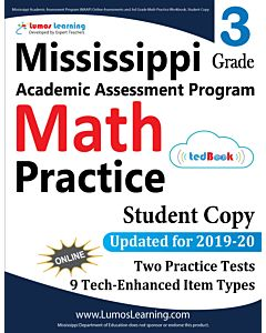 Mississippi Academic Assessment Program (MAAP) Practice tedBook® - Grade 3 Math, Student Copy