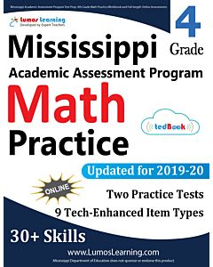 Mississippi Academic Assessment Program (MAAP) Practice tedBook® - Grade 4 Math, Teacher Copy