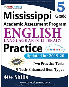 Mississippi Academic Assessment Program (MAAP) Practice tedBook® - Grade 5 ELA, Teacher Copy