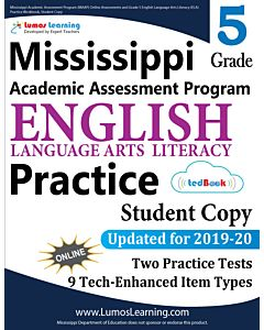 Mississippi Academic Assessment Program (MAAP) Practice tedBook® - Grade 5 ELA, Student Copy