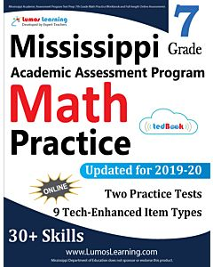 Mississippi Academic Assessment Program (MAAP) Practice tedBook® - Grade 7 Math, Teacher Copy