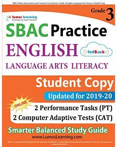 SBAC Practice tedBook® - Grade 3 ELA, Student Copy