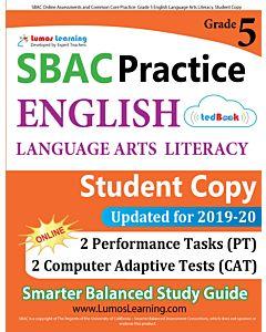 SBAC Practice tedBook® - Grade 5 ELA, Student Copy