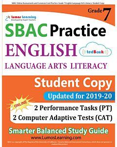 SBAC Practice tedBook® - Grade 7 ELA, Student Copy