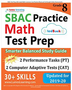 SBAC Practice tedBook® - Grade 8 Math, Teacher Copy