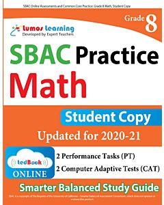 SBAC Practice tedBook® - Grade 8 Math, Student Copy