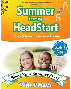 Lumos Summer Learning HeadStart Grade 5 to 6, Student Copy