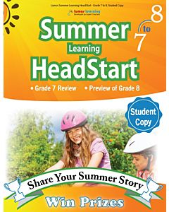 Lumos Summer Learning HeadStart Grade 7 to 8, Student Copy