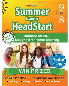 Lumos Summer Learning HeadStart Grade 8 to 9, Student Copy