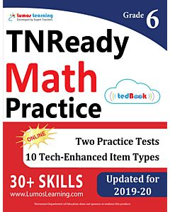 TNReady Practice tedBook® - Grade 6 Math, Teacher Copy
