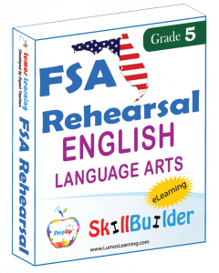 Lumos StepUp SkillBuilder + Test Prep for FSA: Online Practice Assessments and Workbooks - Grade 5 ELA