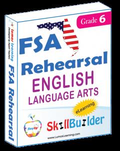 Lumos StepUp SkillBuilder + Test Prep for FSA: Online Practice Assessments and Workbooks - Grade 6 ELA