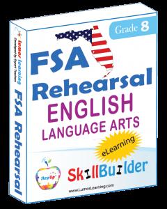 Lumos StepUp SkillBuilder + Test Prep for FSA: Online Practice Assessments and Workbooks - Grade 8 ELA