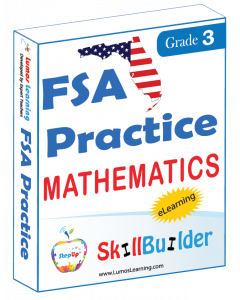 Lumos StepUp SkillBuilder + Test Prep for FSA: Online Practice Assessments and Workbooks - Grade 3 Math