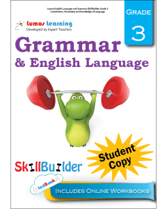 Lumos English Language and Grammar Skill Builder, Grade 3 - Conventions, Vocabulary and Knowledge of Language, Student Copy