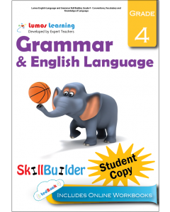 Lumos English Language and Grammar Skill Builder, Grade 4 - Conventions, Vocabulary and Knowledge of Language, Student Copy