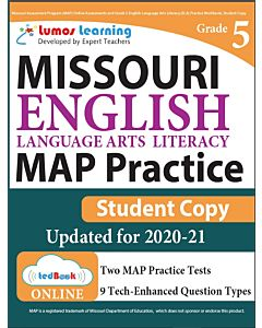 MAP Practice tedBook® - Grade 5 ELA, Student Copy
