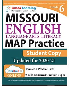MAP Practice tedBook® - Grade 6 ELA, Student Copy