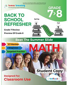 Back to School Refresher tedBook - Grade 7>8 Math, Student Copy