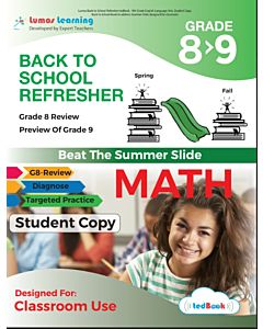 Back to School Refresher tedBook - Grade 8>9 Math, Student Copy