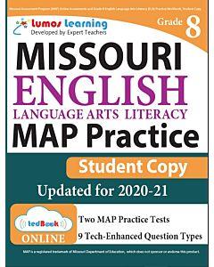 MAP Practice tedBook® - Grade 8 ELA, Student Copy