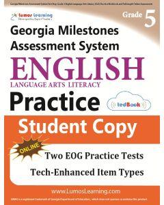 GMAS Practice tedBook® - Grade 5 ELA, Student Copy