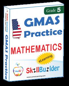 Lumos StepUp SkillBuilder + Test Prep for GMAS: Online Practice Assessments and Workbooks - Grade 5 Math