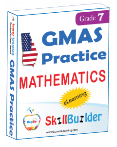 Lumos StepUp SkillBuilder + Test Prep for GMAS: Online Practice Assessments and Workbooks - Grade 7 Math