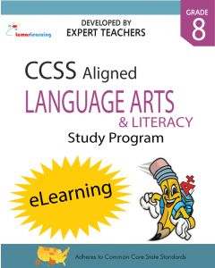 Comprehensive Online Assessments and Workbooks Aligned With the CCSS: Grade 8 English Language Arts