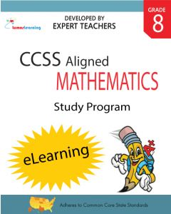 Comprehensive Online Assessments and Workbooks Aligned With the CCSS: Grade 8 Mathematics