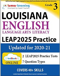 LEAP Practice tedBook® - Grade 3 ELA, Teacher Copy
