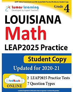 LEAP Practice tedBook® - Grade 4 Math, Student Copy