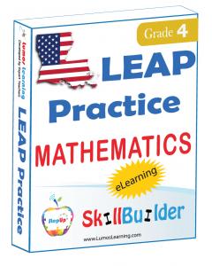 Lumos StepUp SkillBuilder + Test Prep for LEAP: Online Practice Assessments and Workbooks - Grade 4 Math
