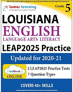 LEAP Practice tedBook® - Grade 5 ELA, Teacher Copy