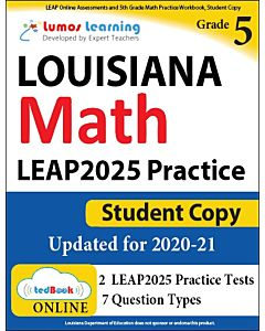 LEAP Practice tedBook® - Grade 5 Math, Student Copy